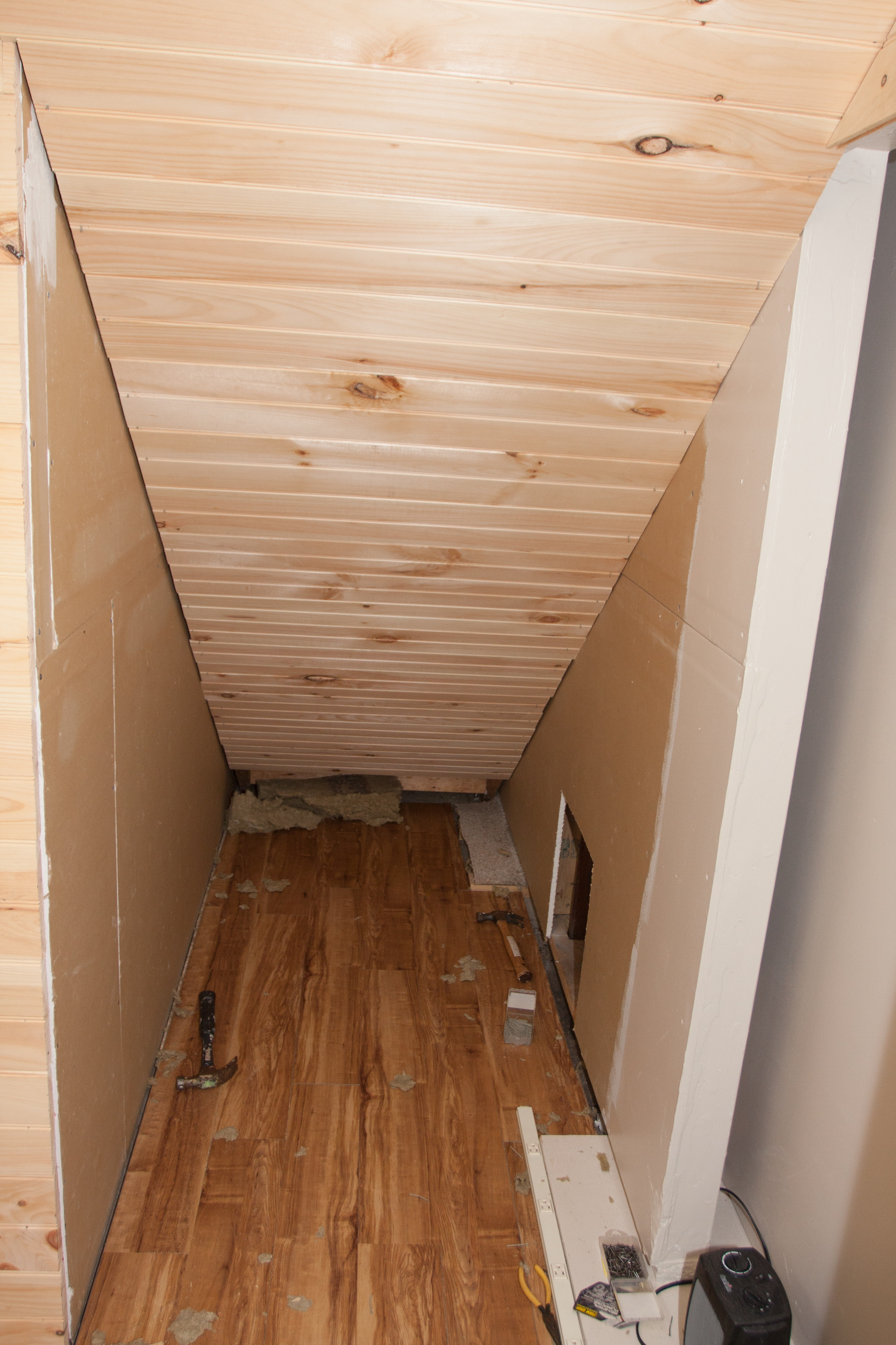 Insulation And Paneling Under The Stairs Dzplanet