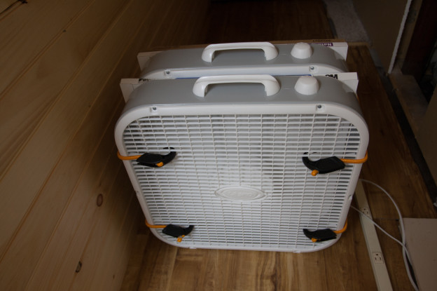 Box Fan Filter : Three stage double box fan air filter dzplanet